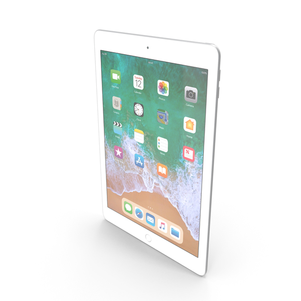 iPad 9.7 2018 Silver PNG & PSD Images