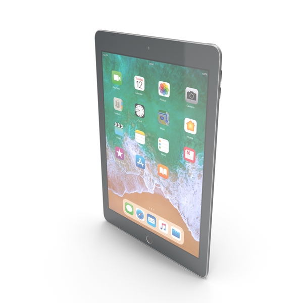 iPad 9.7 2018 Space Gray PNG & PSD Images