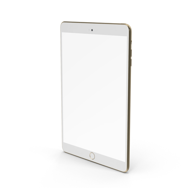 iPad Mini 3 Gold PNG & PSD Images