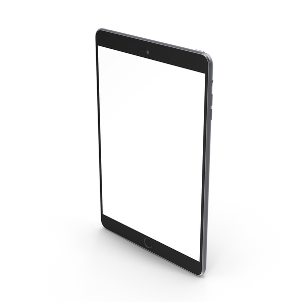 Tablet Computer: iPad Mini 3 Space Grey PNG & PSD Images