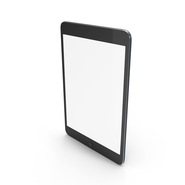 Tablet Computer: iPad Mini Black PNG & PSD Images