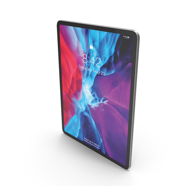Tablet Computer: iPad Pro 2020 12.9 inch Silver PNG & PSD Images