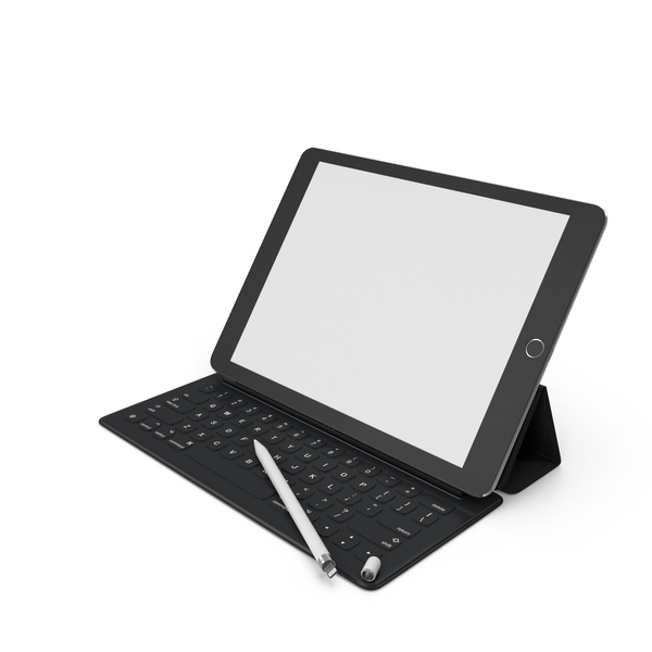 Tablet Computer: iPad Pro with Pencil and Smart Keyboard PNG & PSD Images