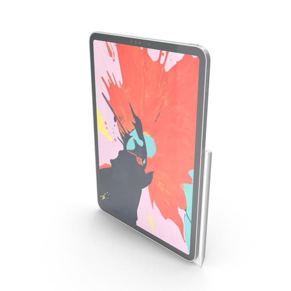 iPad Pro11 Silver With Pencil PNG & PSD Images
