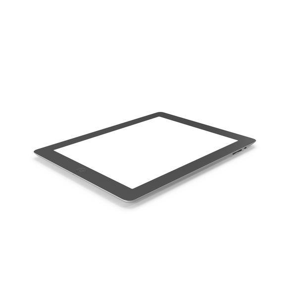 iPad Retina Cellular Black PNG & PSD Images