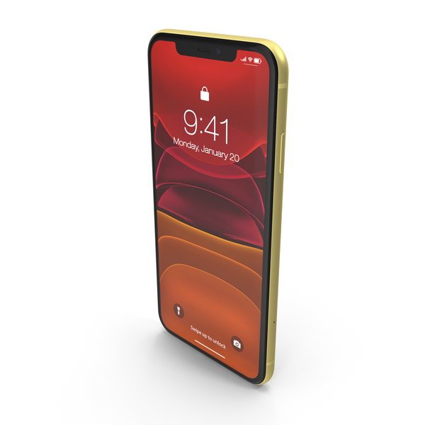 iPhone 11 Yellow PNG & PSD Images