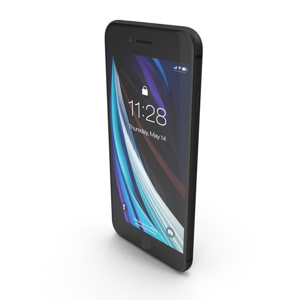 Smartphone: iPhone SE 2020 Black PNG & PSD Images