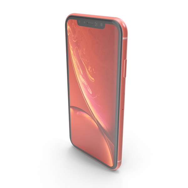 iPhone XR Coral PNG & PSD Images
