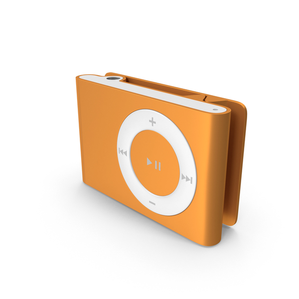 iPod Shuffle 2nd Generation Orange PNG & PSD Images