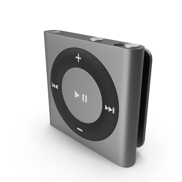 iPod Shuffle Space Grey PNG & PSD Images