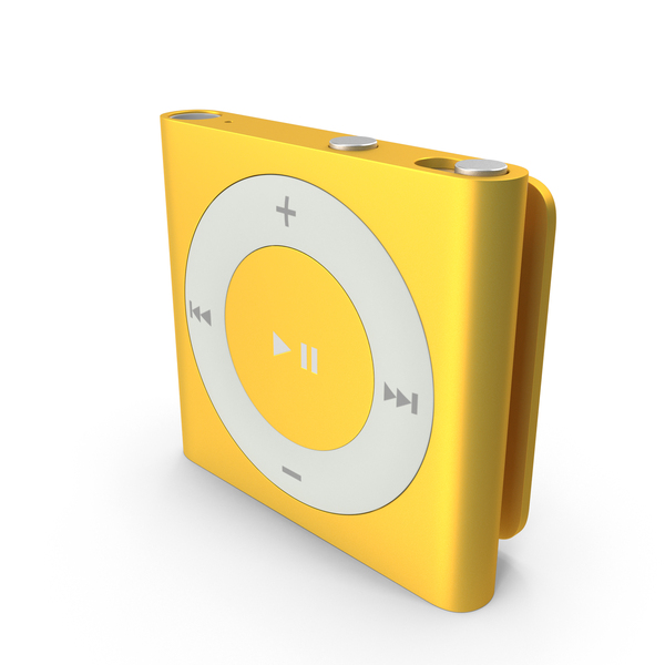Mp3 Player: iPod Shuffle Yellow PNG & PSD Images