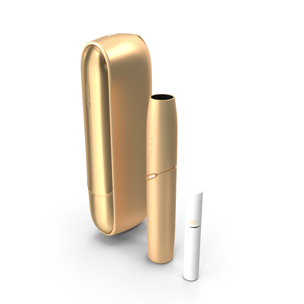 IQOS 3 DUO Electronic Cigarettes Gold Set PNG & PSD Images