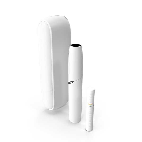 IQOS 3 DUO Electronic Cigarettes White Set PNG & PSD Images