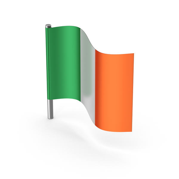 Ireland Cartoon Flag PNG & PSD Images