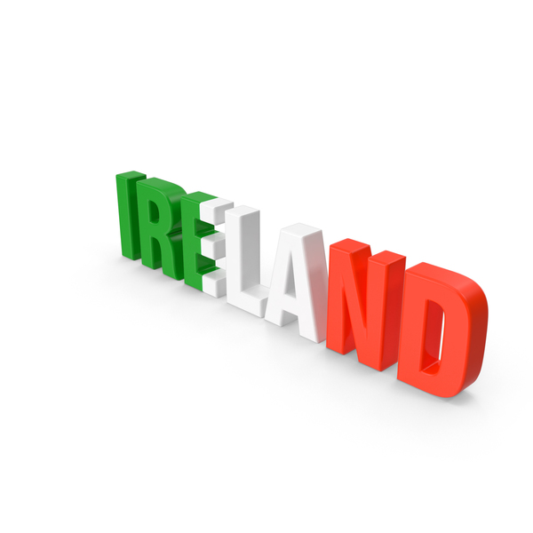 Irish Flag: Ireland Text PNG & PSD Images