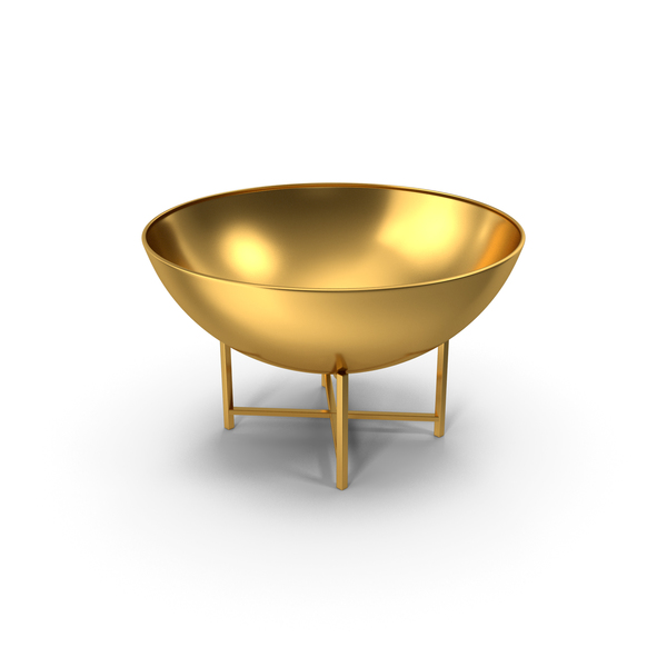 Iron Fire Bowl Gold PNG & PSD Images