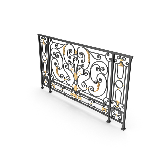 Wrought Fence: Iron Railing PNG & PSD Images