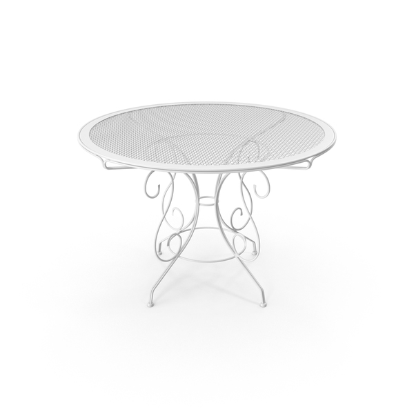 Patio: Iron Table PNG & PSD Images