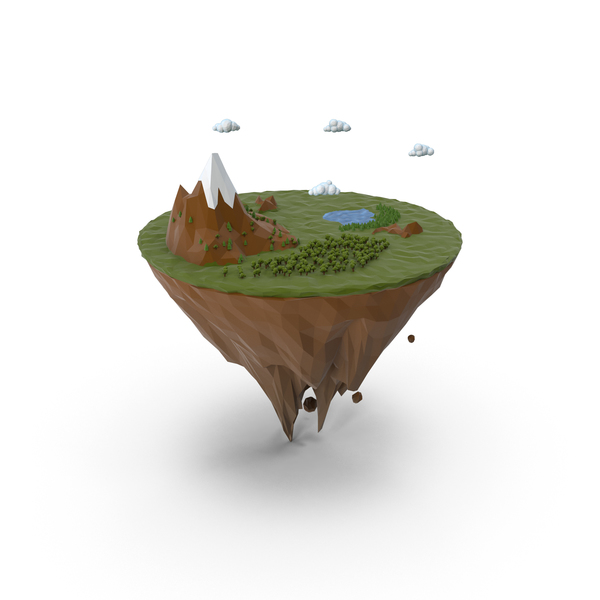 Island  lowpoly PNG & PSD Images
