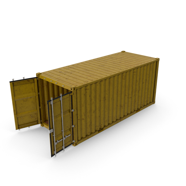ISO 20 FT Rusty Container PNG & PSD Images
