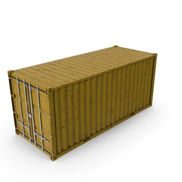 Cargo: ISO 20 FT Rusty Container PNG & PSD Images