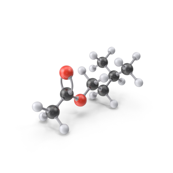 Isoamyl Acetate Molecule PNG & PSD Images