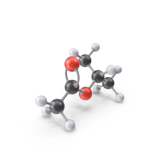 Isopropyl Acetate Molecule PNG & PSD Images