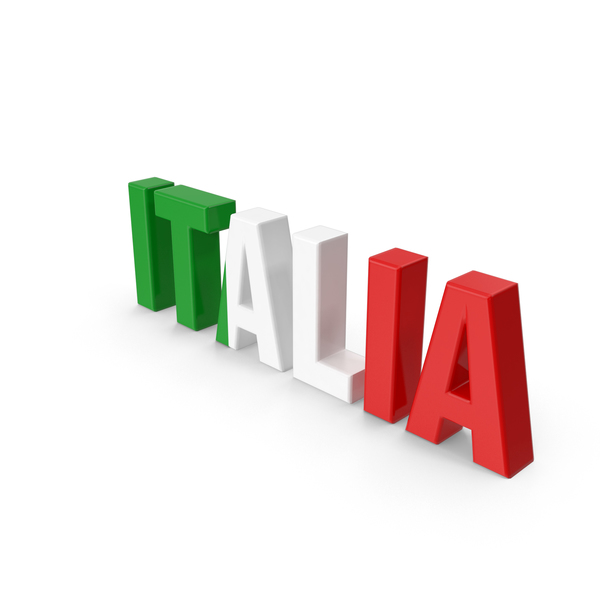 Italia Text PNG & PSD Images
