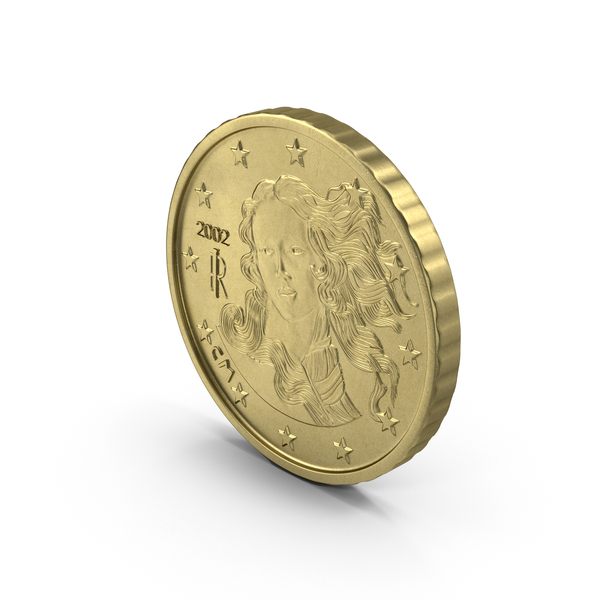 Italian Euro 10 Cent Coin PNG & PSD Images