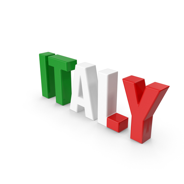 Italy Text PNG & PSD Images