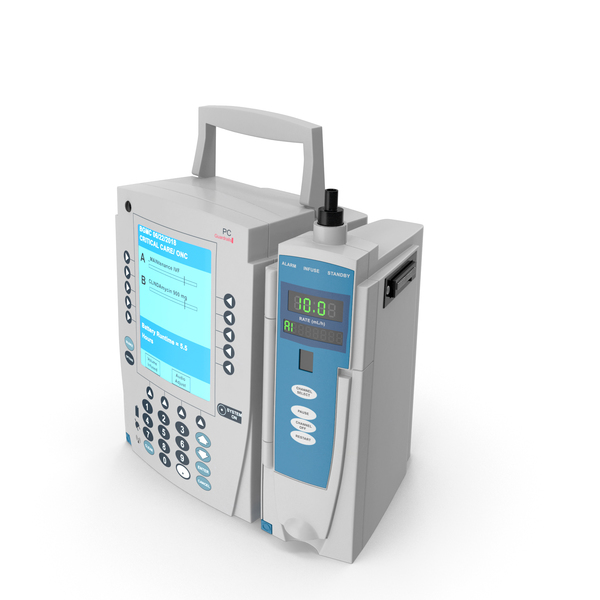 Medical Devices: IV Pump PNG & PSD Images