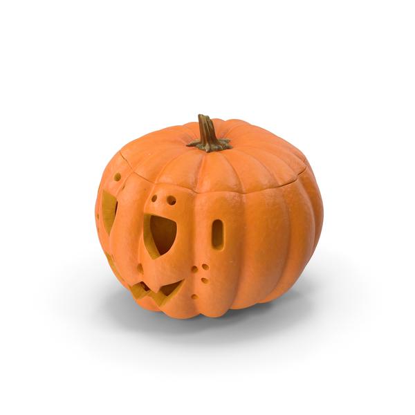 Jack O Lantern Pumpkin With Carved Face PNG & PSD Images