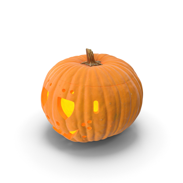 Jack o Lantern Pumpkin with Carved Face PNG & PSD Images