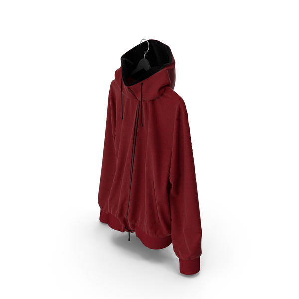 Jacket Red on Hanger PNG & PSD Images