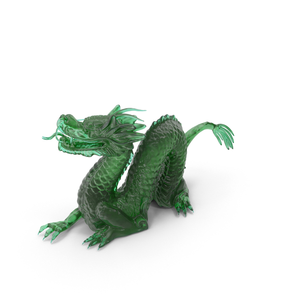 Jade Dragon Statuette PNG & PSD Images
