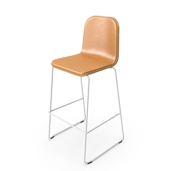 Stool: Jane Bar Chair Leather PNG & PSD Images