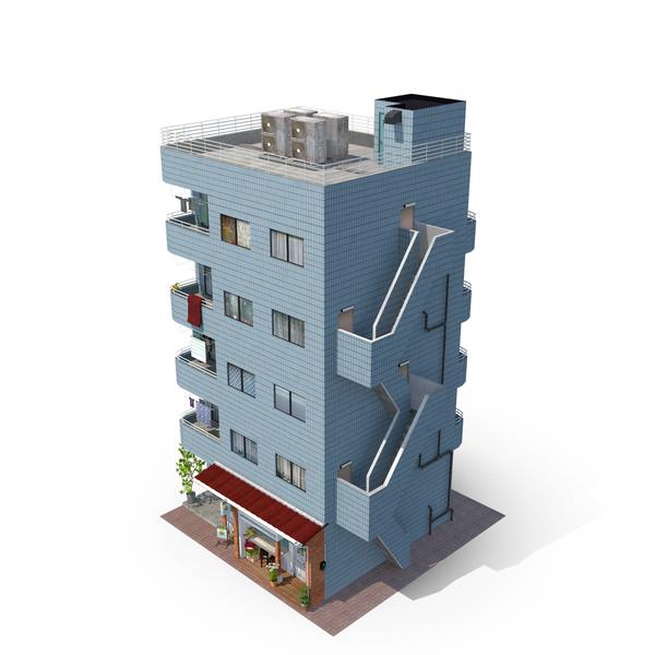 Japan Blue Building PNG & PSD Images
