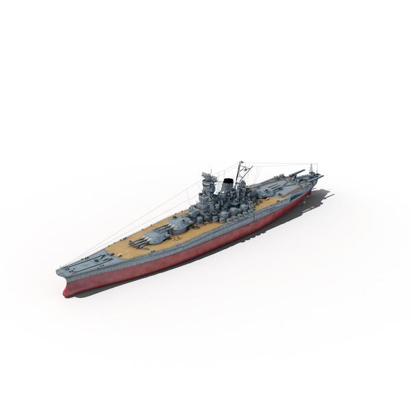 Japanese Battleship Yamato PNG & PSD Images