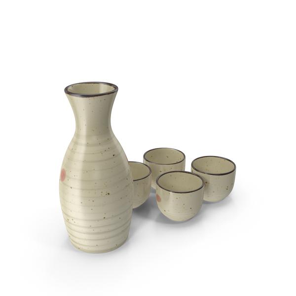 Japanese Sake Service Set PNG & PSD Images
