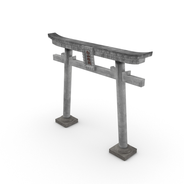 Japanese Shrine Gate Object