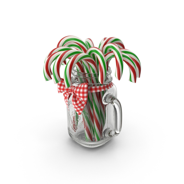 Cane: Jar of Candy Canes PNG & PSD Images