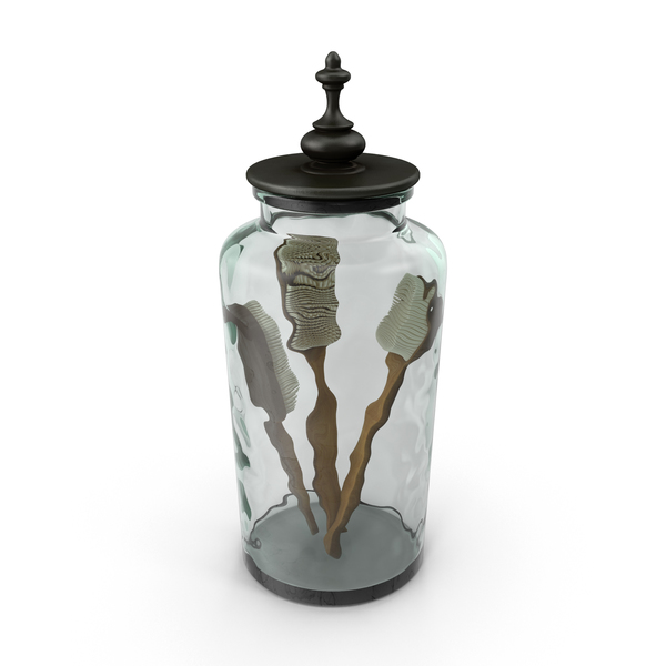 Jar with Bath Brushes PNG & PSD Images