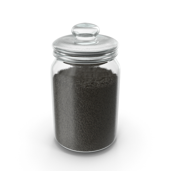Jar with Black Sesame Seeds PNG & PSD Images