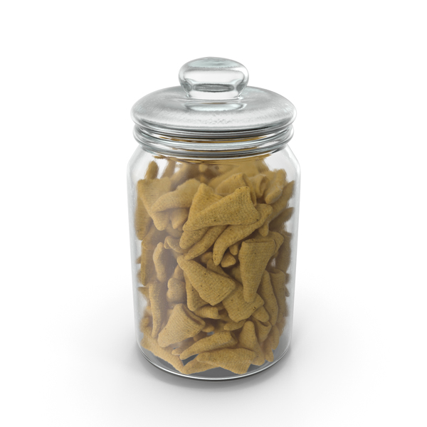 Jar with Cone Shaped Corn Snacks PNG & PSD Images