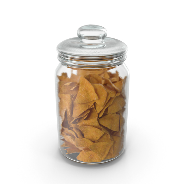 Jar with Corn Tortilla Nacho Chips PNG & PSD Images