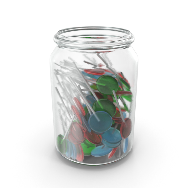 Jar With Flat Lollipops PNG & PSD Images