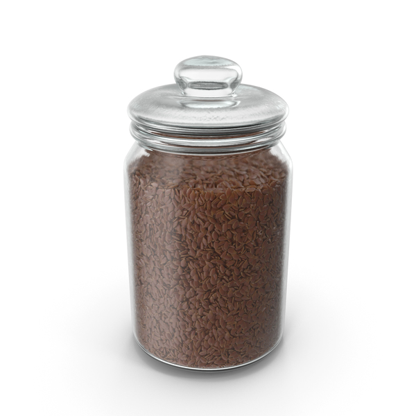 Jar With Flax Seeds PNG & PSD Images