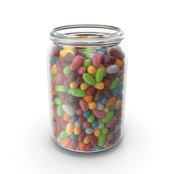 Jar with Jelly Beans PNG & PSD Images