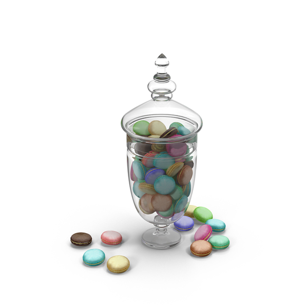 Macaroon: Jar with Macarons PNG & PSD Images