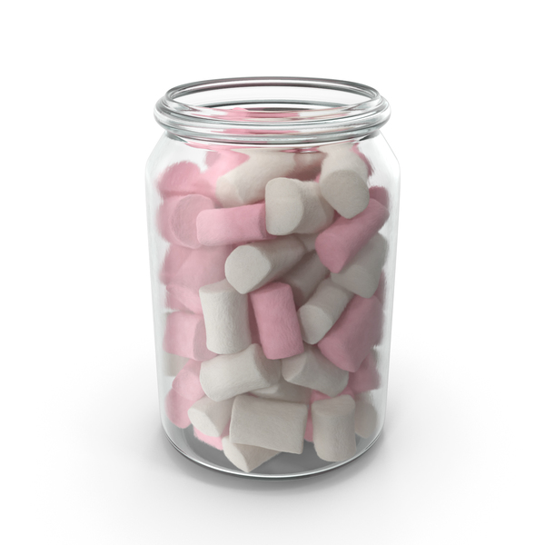 Jar with Marshmallows PNG & PSD Images